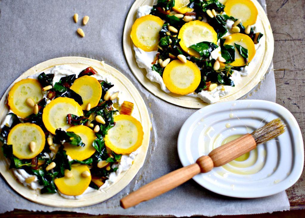 zucchini and chard tart // food to glow