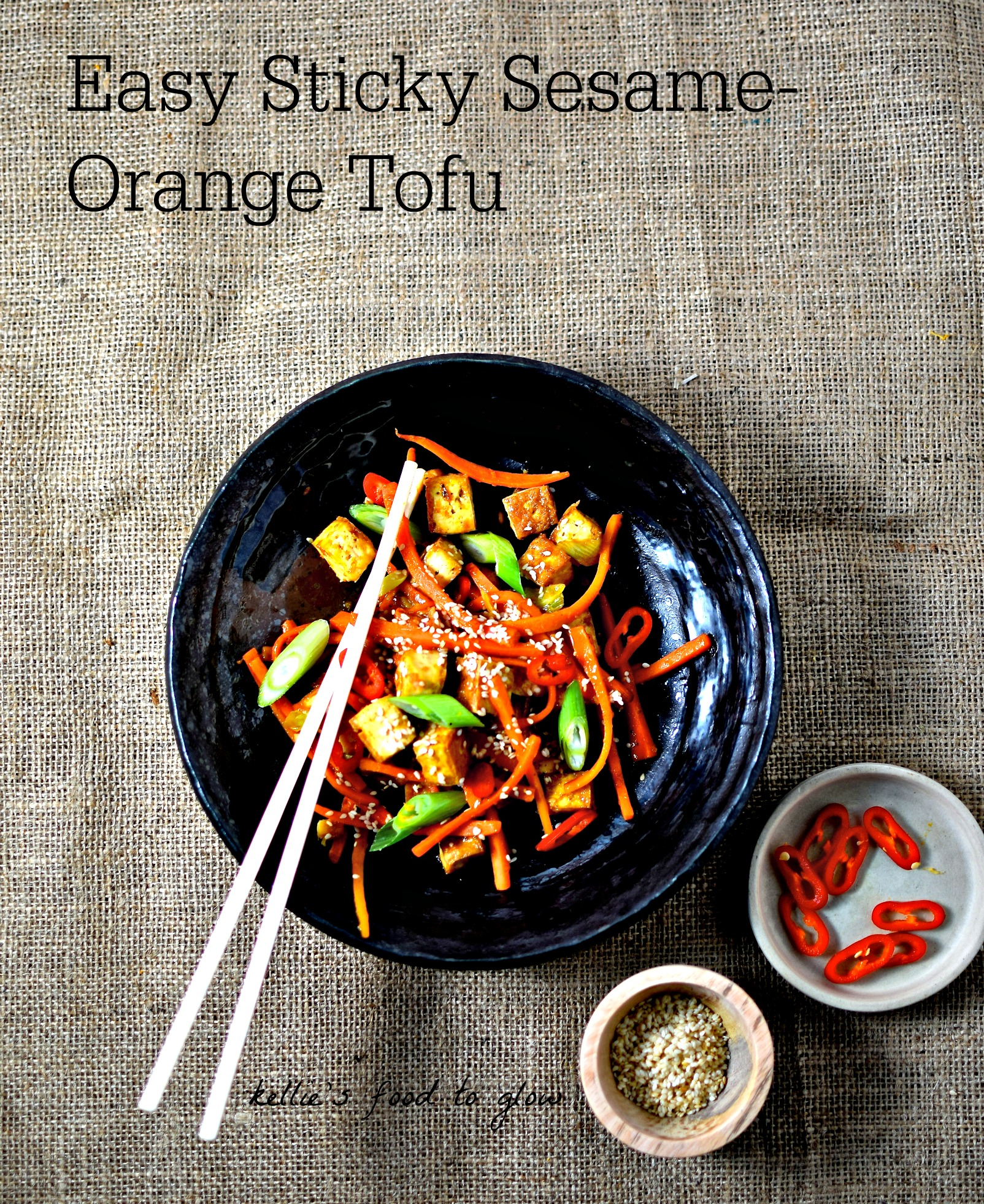 Easy sticky sesame orange tofu recipe vegangf food to glow a quick and easy and delish way to get your family to try forumfinder Image collections