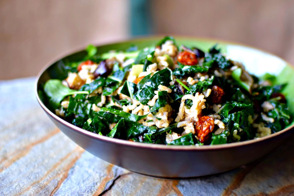 Kale Eggplant And Golden Berry Grain Salad The Best Job In The World Food To Glow