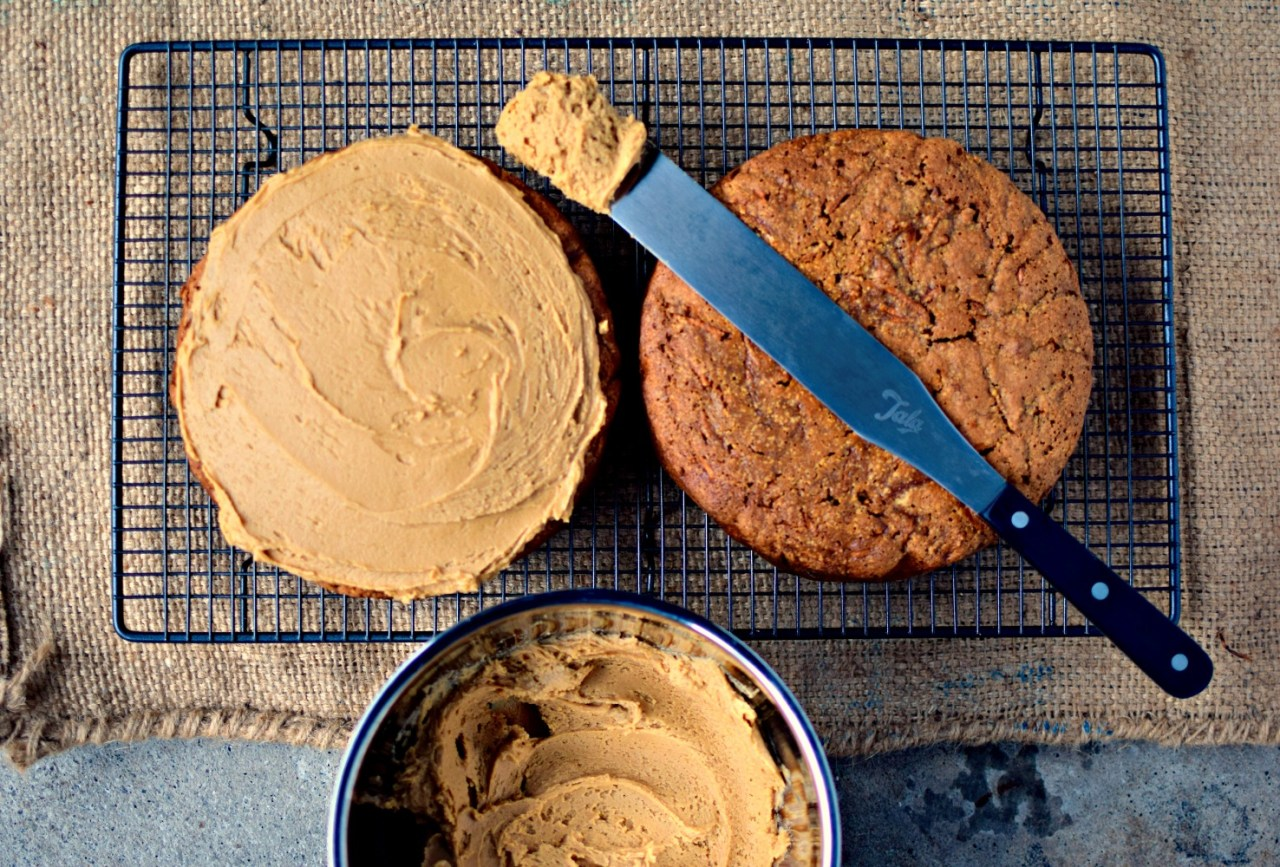 A gluten-free spin on one of everyone's favourite cakes, Coffee and Walnut. As well as rice flour and walnuts, sweet potato is included for extra moistness and sweetness. Top with the silky marscapone frosting (I dare you not to eat at least half while the cake bakes!) or leave naked for an Espresso version.