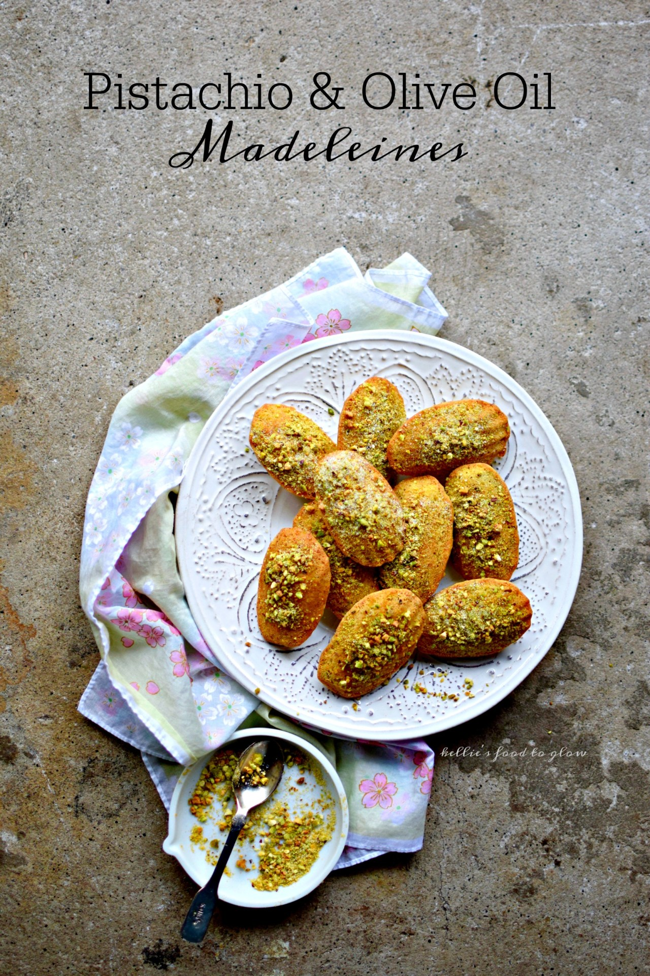 Perhaps one of the most literary of foodstuffs, madeleines are surprisingly easy to make. These tiny scallop-shaped cakes are given a 21st century makeover with olive oil and pistachios - and a touch of yuzu if you have it. Dip into a steaming cup of tea and see what happens!