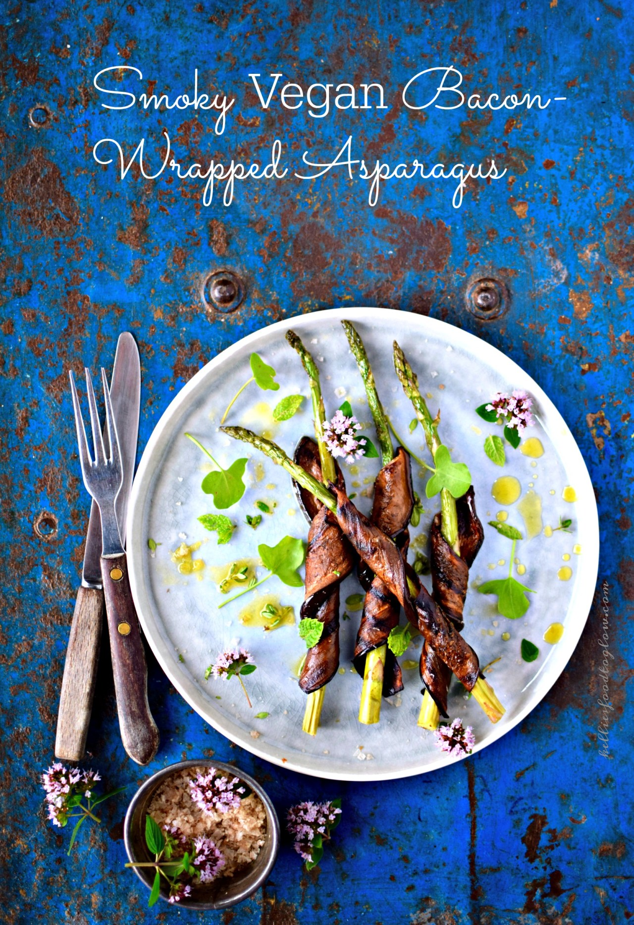 Smoky bacon wrapped asparagus for plant lovers its vegan food ripe for pinning yes you read right vegan smoky bacon wrapped asparagus this whole food forumfinder Image collections