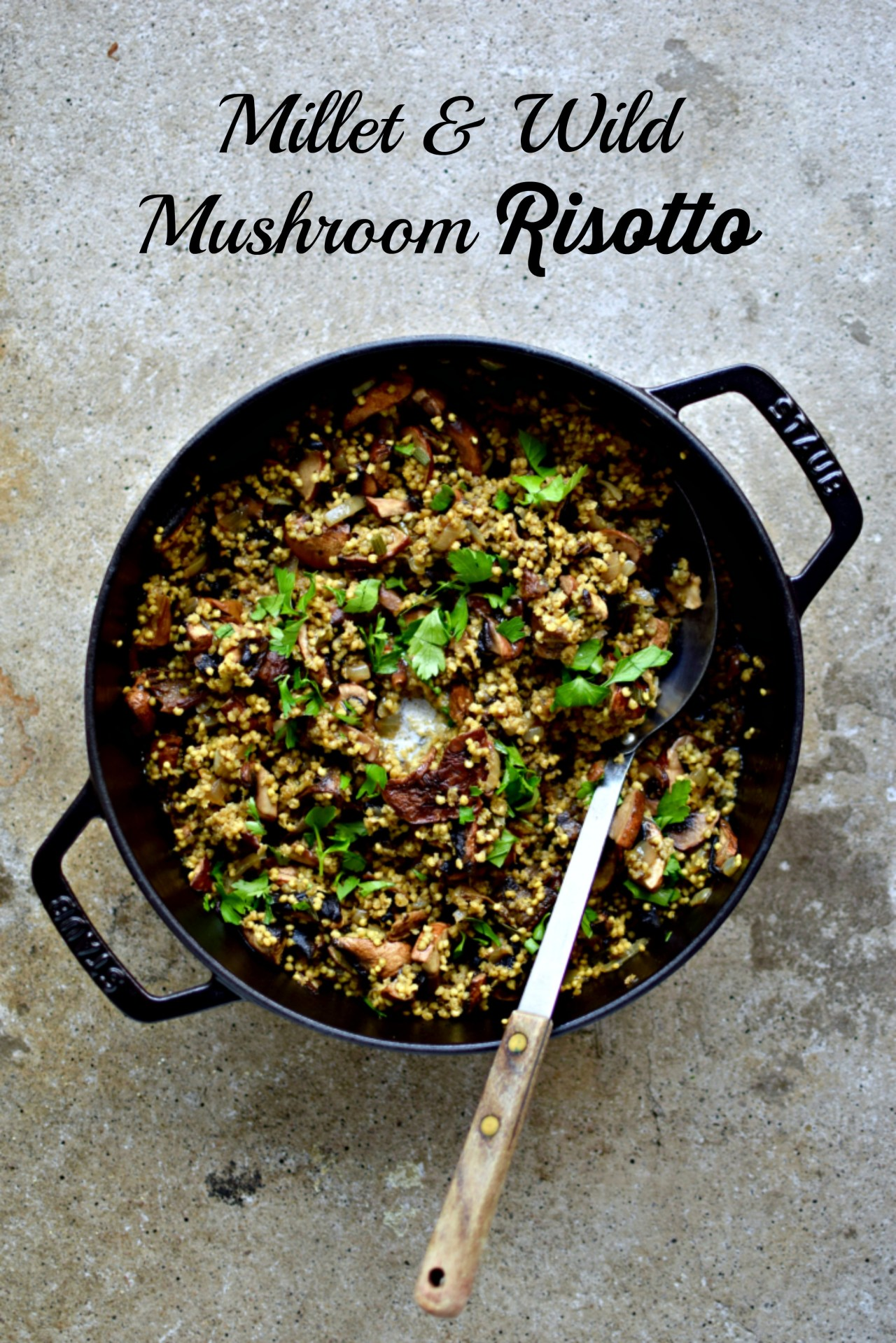 A Polish spin on the classic Italian dish, risotto. Made with millet instead of rice, this easy vegan recipe is laden with wild mushrooms for a decidedly autumnal dish. A perfect Meatless Monday or midweek dinner choice for the whole family.