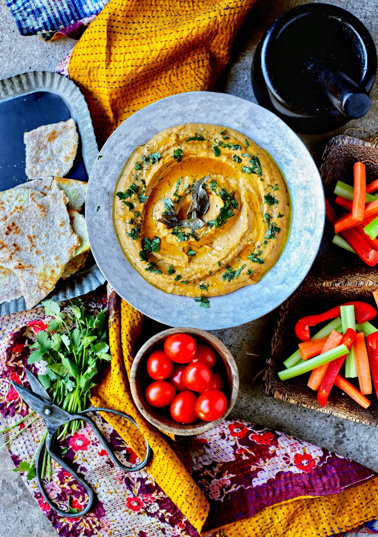 Spice up your hummus game with Indian spices and lentils to make dal hummus. A most perfect dip and spread for healthy, vegan, snacks and lunches. Spread this dip on wraps or use it to plunge in fresh vegetables and bread.