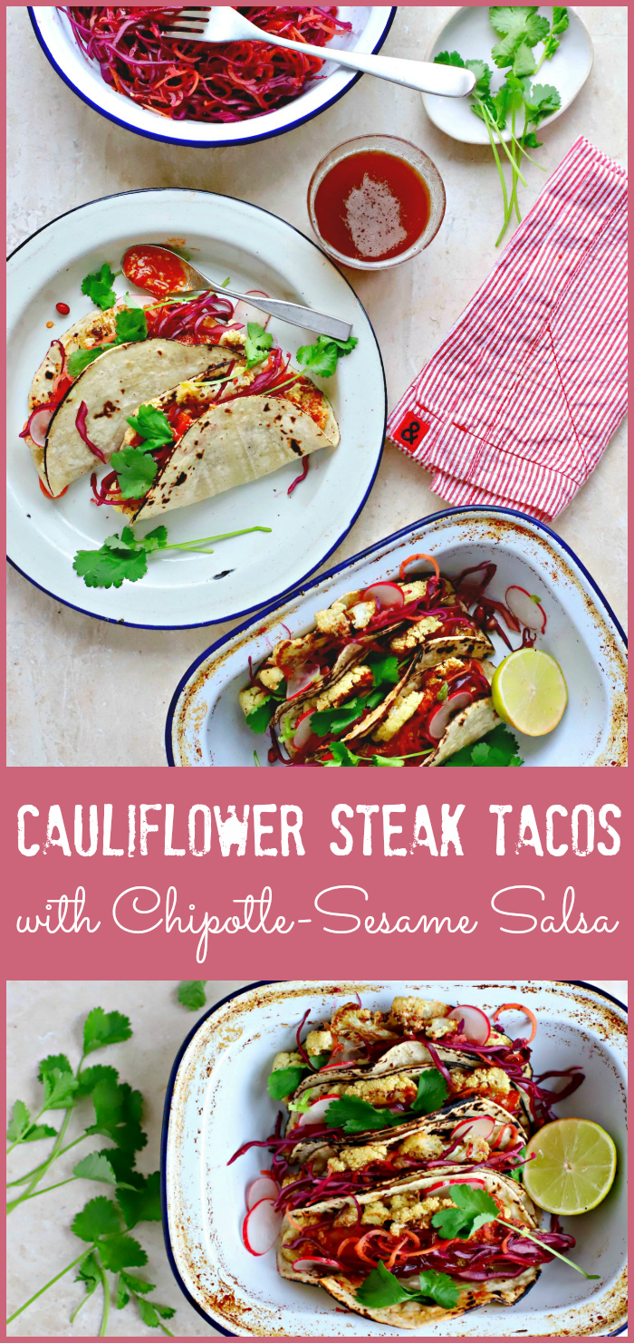 cauliflower steak taco pin