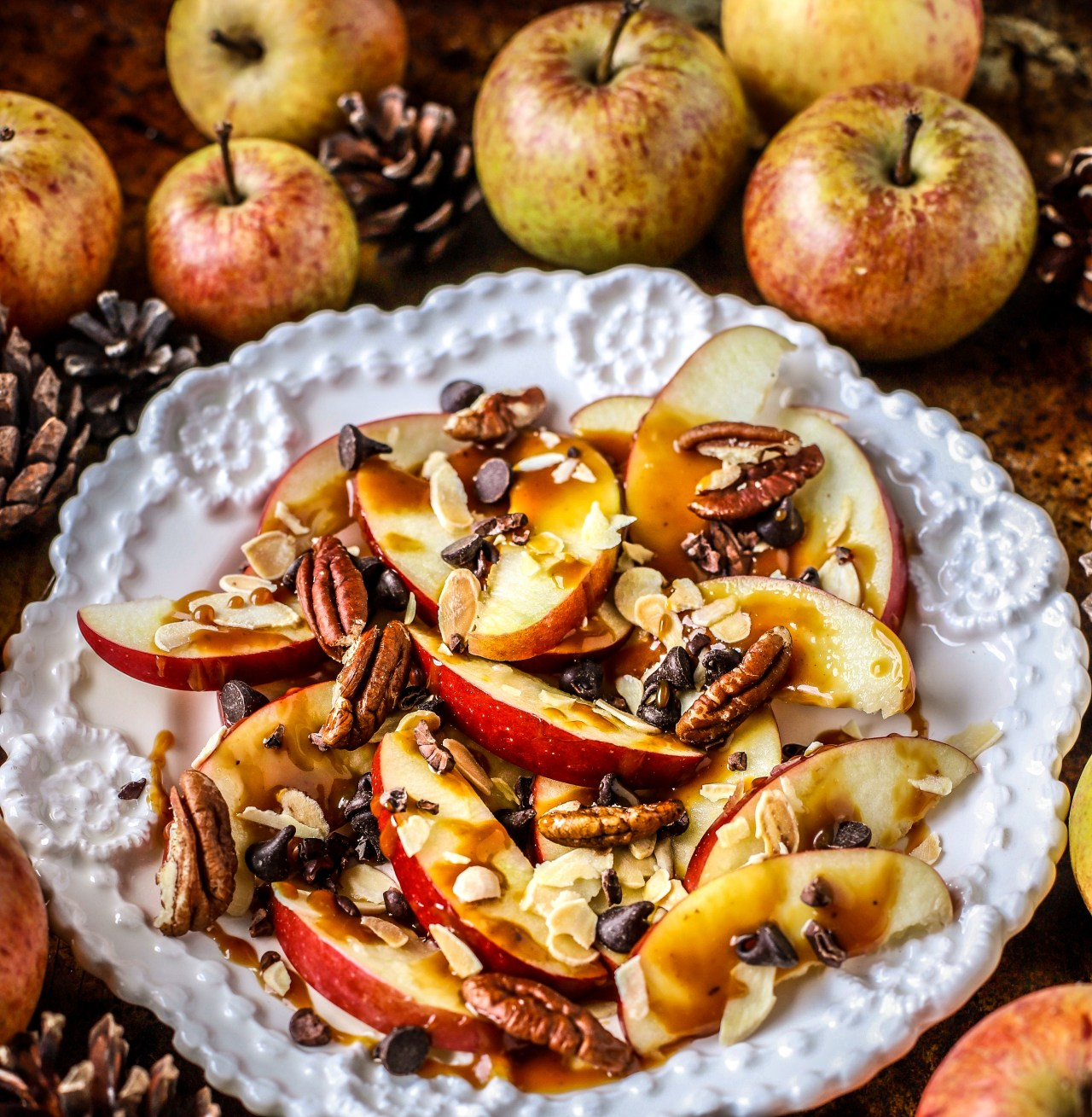 Salted Caramel Apple Nachos are your new favourite quick snack or dessert for the family - or just you.