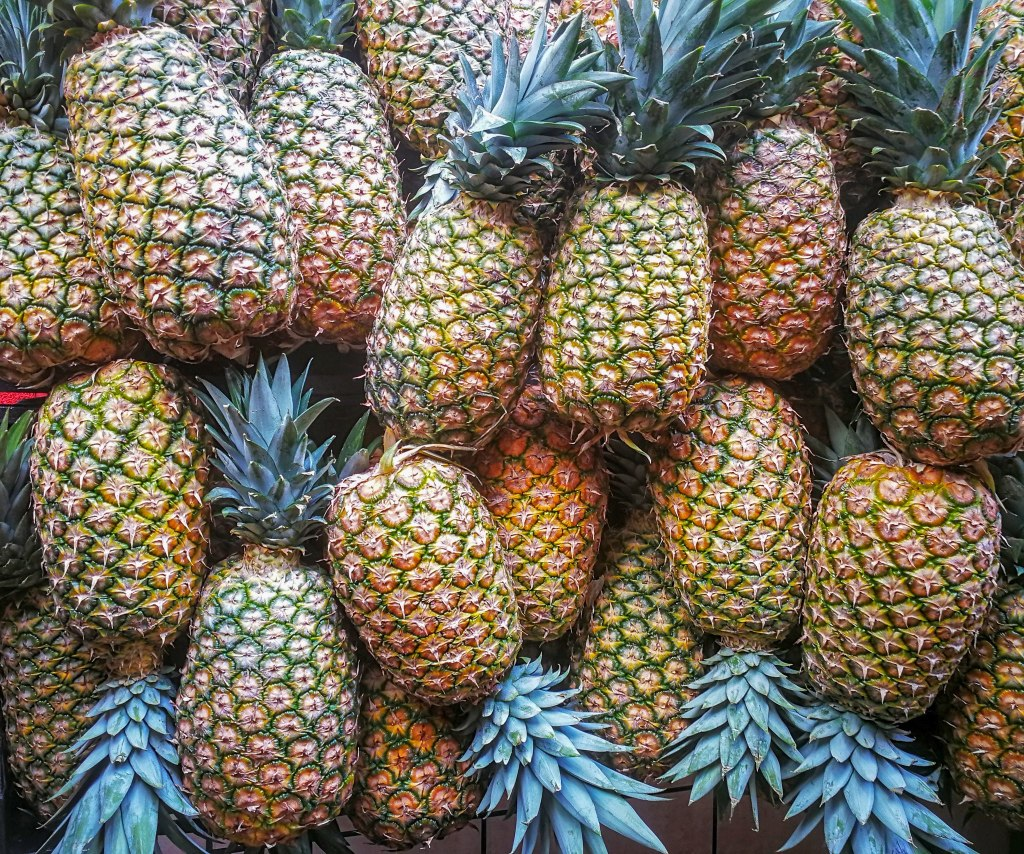 costa rican pineapples in the market