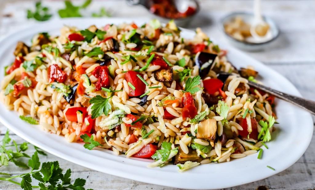 Smoky Mediterranean Orzo Salad