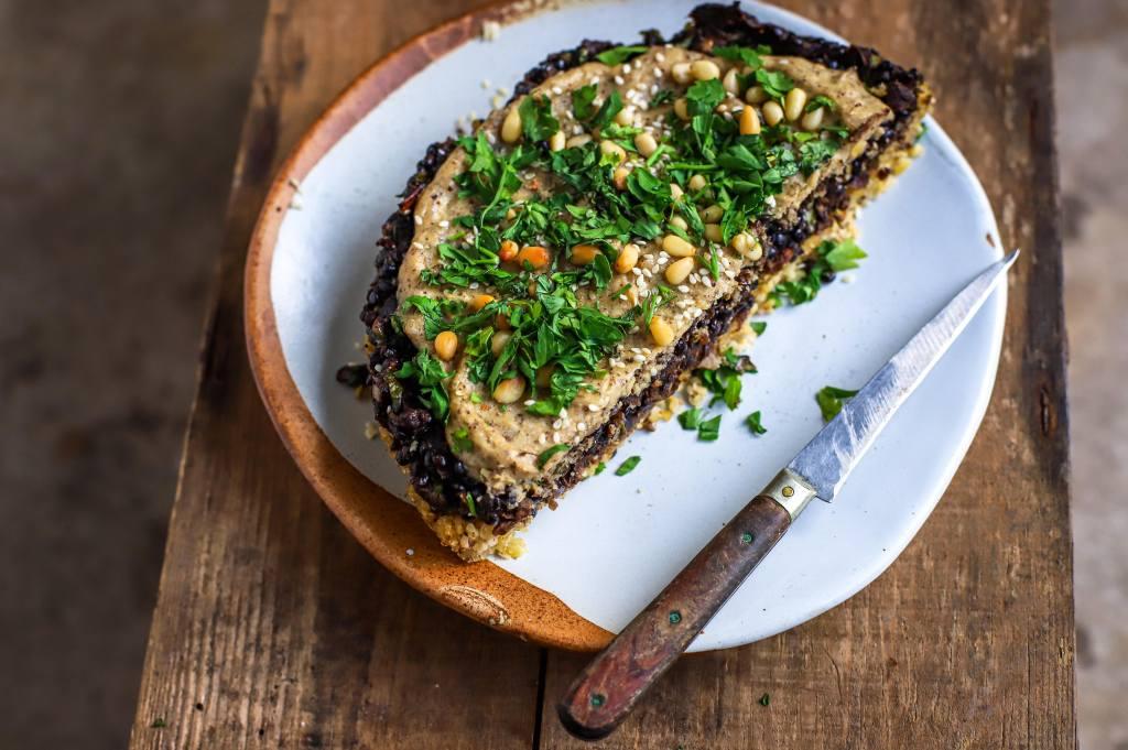 middle eastern lentil pie