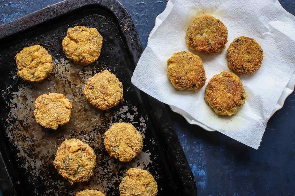 baked and fried fishcakes