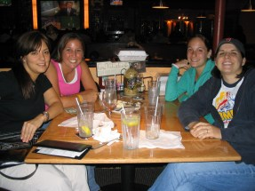 Last Dinner with our awesome boss Vikki (Rachel in the teal)