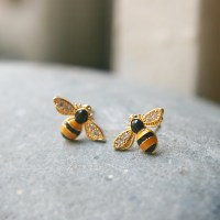 HONEY BEE EARRINGS BUMBLE BEE EARRINGS HONEY BEE EARRINGS