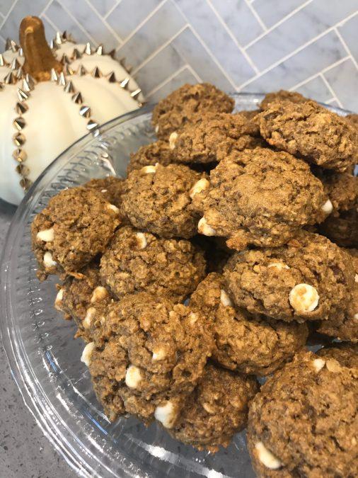 White Chocolate Pumpkin Oatmeal Cookies