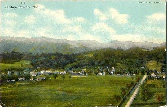 Early color postcard of Calistoga