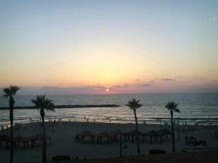 Sunset over Tel Aviv