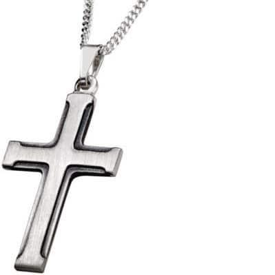 Hopeinen risti pojalle
