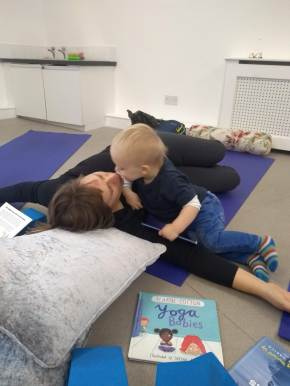 adult and toddler yoga