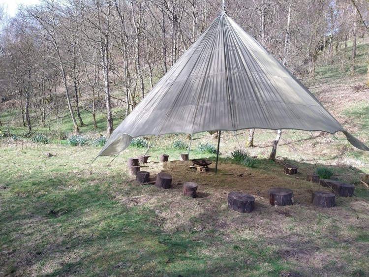 Within the Wood, Keighley for outdoor yoga