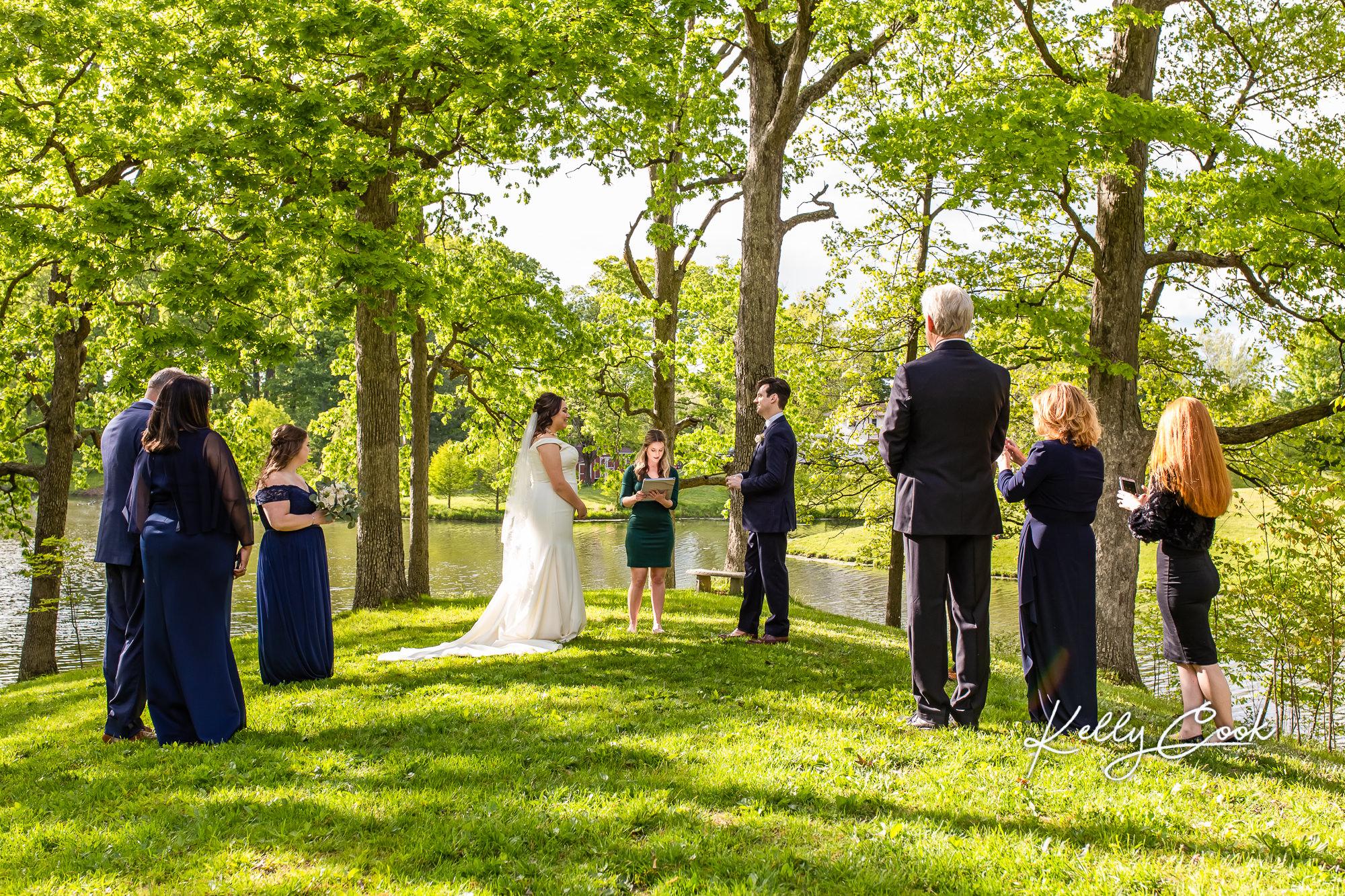A sunny backyard micro wedding in St. Louis
