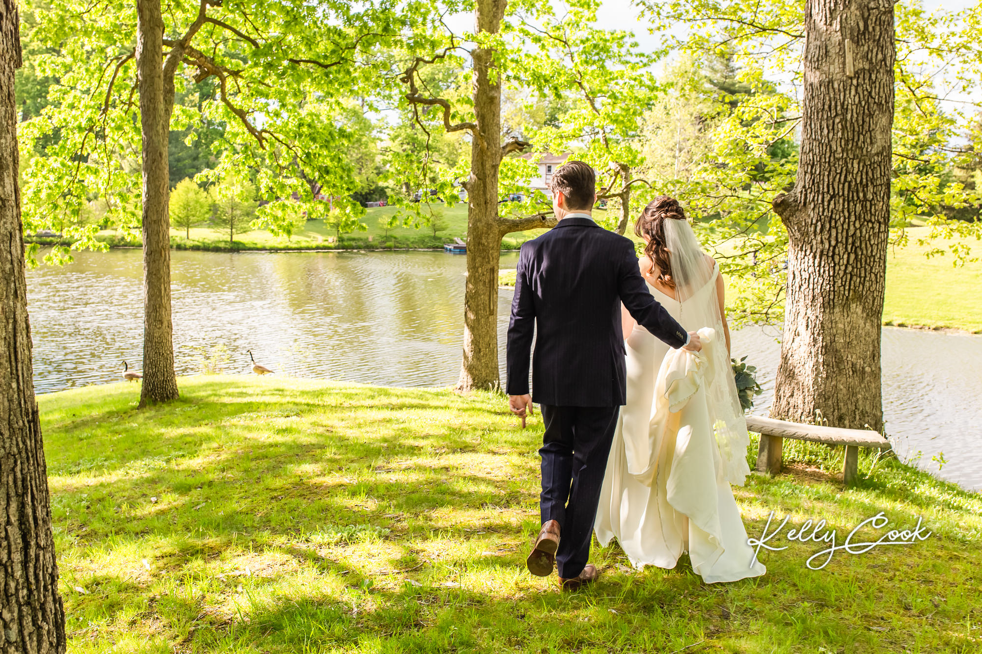 A sunny backyard mini wedding ceremony in St. Louis