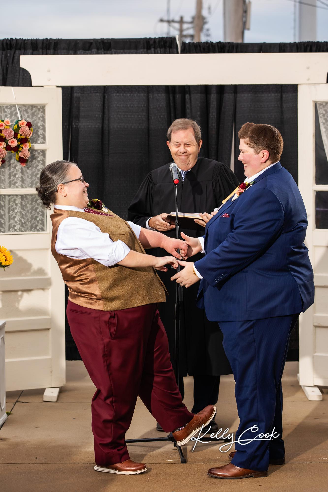 LGBTQ wedding ceremony