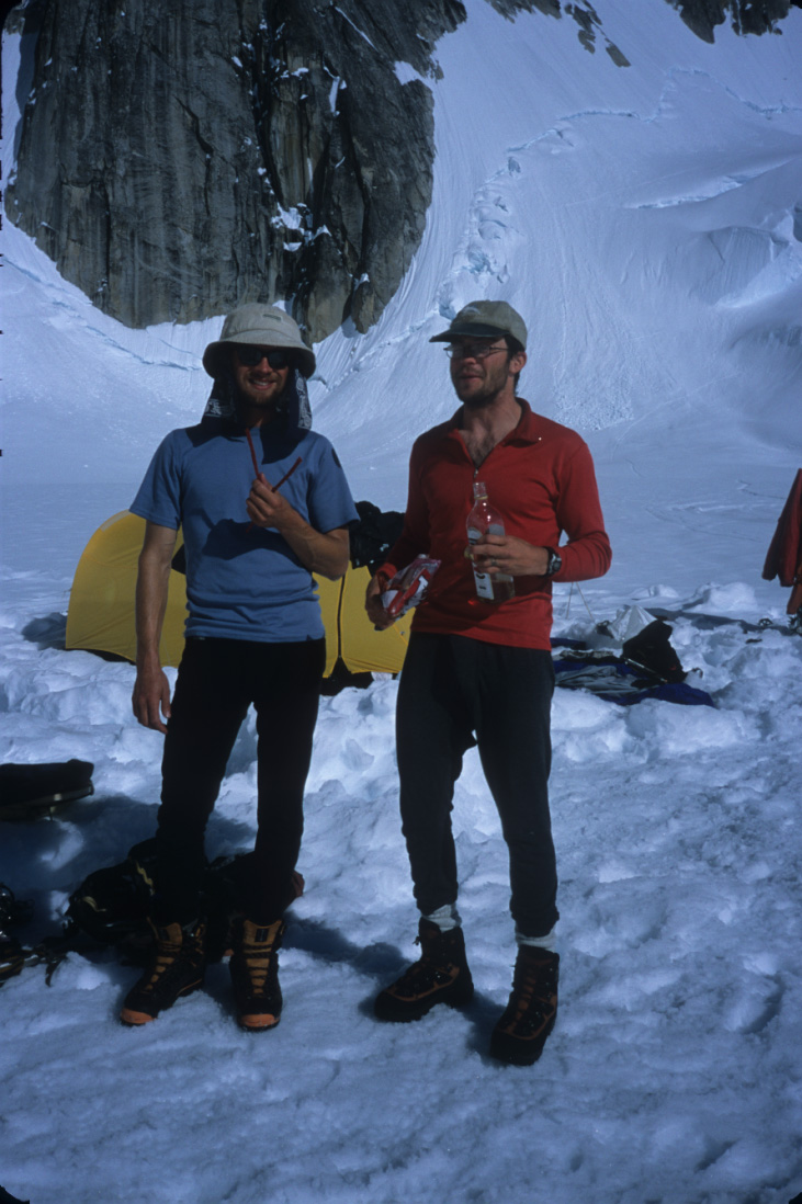 Scotty (L) and me back in base camp after Huntington.