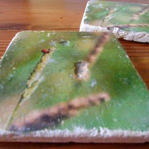 Ladybug Coasters by Kelly Cushing
