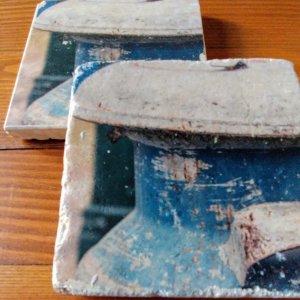 Vintage Blue Milk Jug Coasters