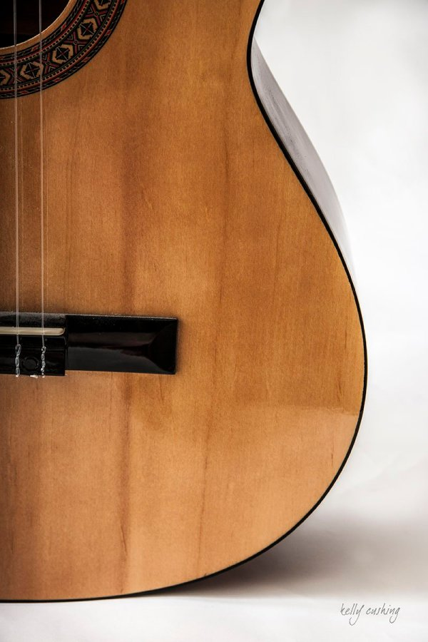 Bottom of Guitar by Kelly Cushing Photography
