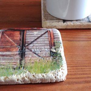 Chained Barn Door Coaster