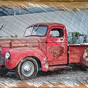 Red International Truck Wall Decor by Kelly Cushing Photography