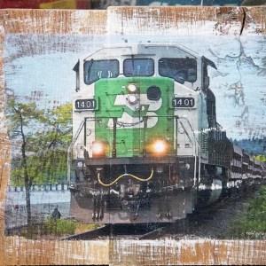 White Rock Train Wall Decor