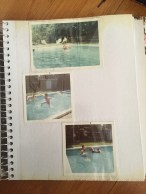 These are photo albums that I have in my house that served as my inspiration. I love that this page features kids by the pool because that is a subject the Julie used in her work quite often!