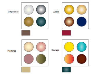 These are the final decisions I made for each color palette.