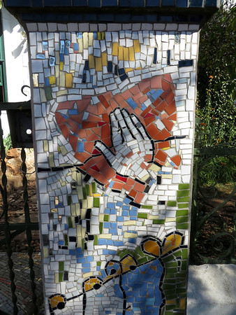Mosaic in front of David Webster's House