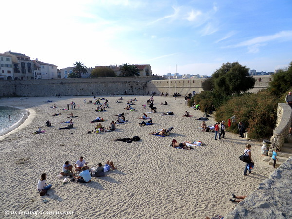 Beach at Antibes in November