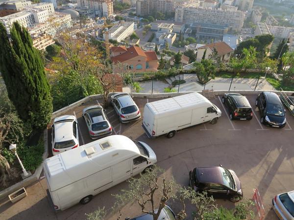 Vans arriving