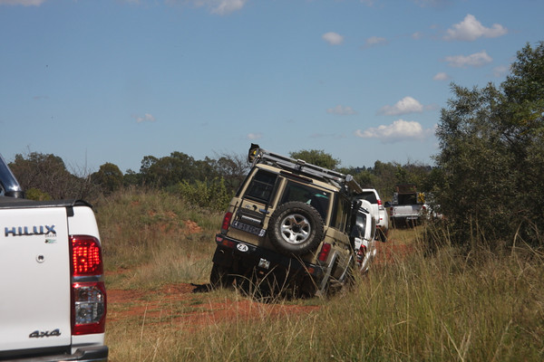 One of the only times I actually stayed in the vehicule so this shot is of the 4x4's in front