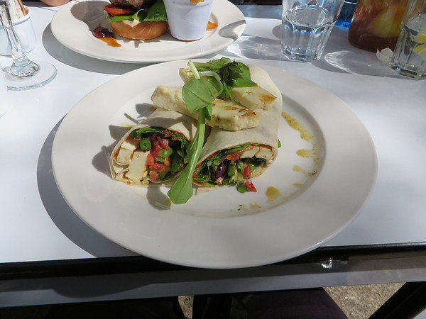 Garden Wrap with Haloumi