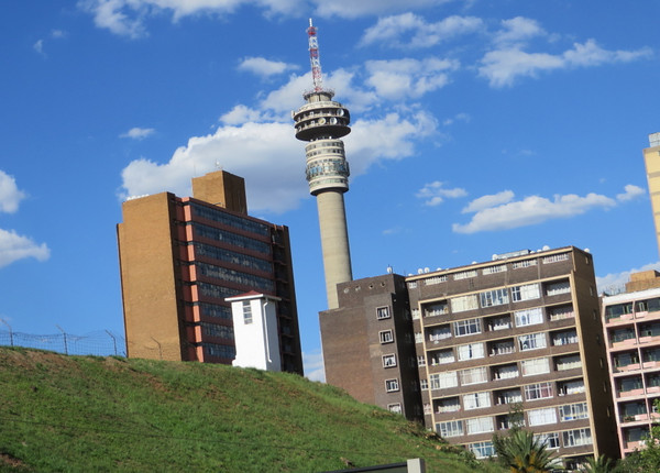 The iconic Hillbrow Tower, you often see this in skyline photos of Joburg