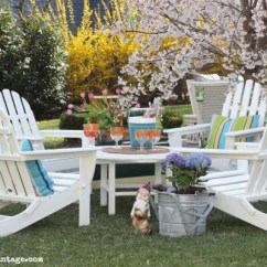 Poly Wood Adirondack Chairs Tall Outdoor Table And Polywood Earth Friendly Built To Last Chair Conversation Set Love The Four Big Round
