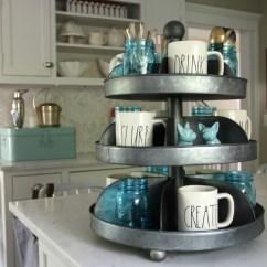 2 Tier Kitchen Island Countertop Laminate Farmhouse Essentials