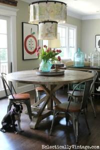Best 25+ Round Farmhouse Table Ideas On Pinterest