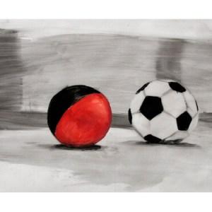 RICHARD STORMS (b. 1954), Tango's Balls, 2005, oil on parchment, 31'' x 41'', Birch Libralato