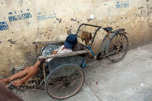 Taking a break in Hanoi