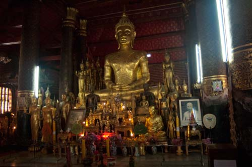 Buddha in temple, Luang Prabang, Laos