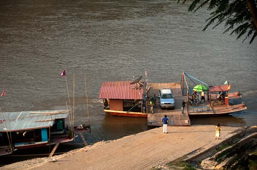 ferry on the Mekong River, Luang Prabang, Laos
