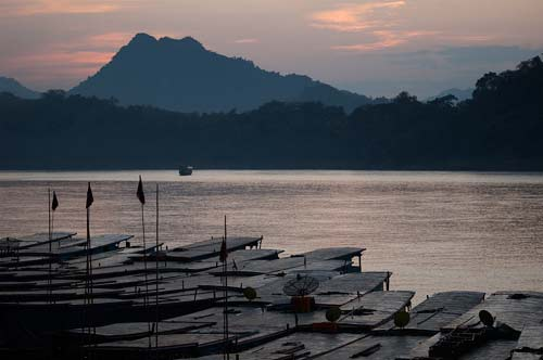 boat roofs, Luang Prabang, Laos