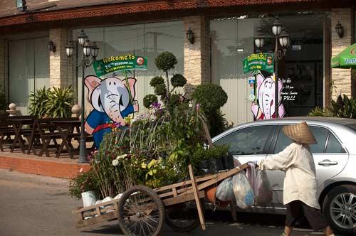 Seagame signs, Vientiane, Laos