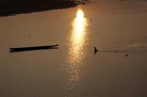 fishing in the Mekong, Vientiane, Laos